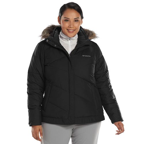 99fded404b4 Plus Size Columbia Snow Eclipse Hooded Puffer Jacket
