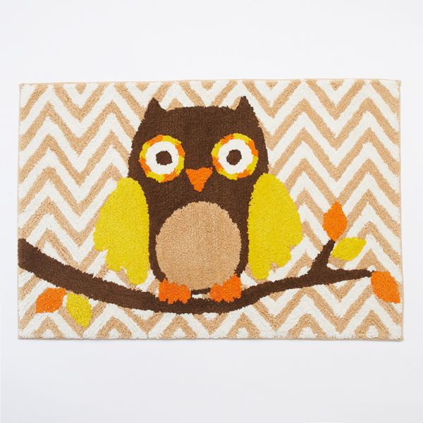 Harvest Owl Chevron Bath Rug