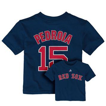 Toddler Majestic Boston Red Sox Dustin Pedroia Tee