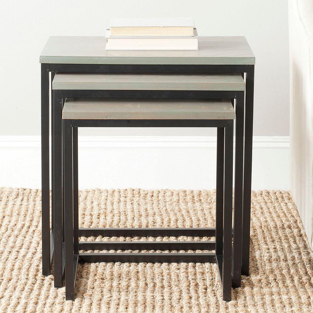 Safavieh Kaleb 3-pc. Nesting Table Set