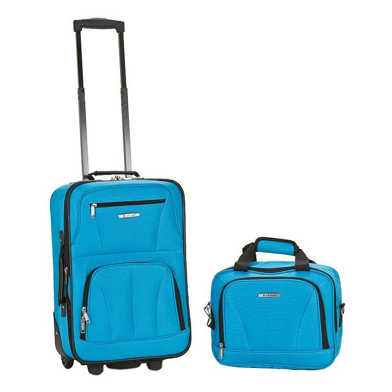 Rockland Luggage, 2-pc. Wheeled Expandable Luggage Set, Blue