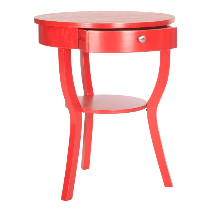 Safavieh Kendra Curved Legs End Table, Red