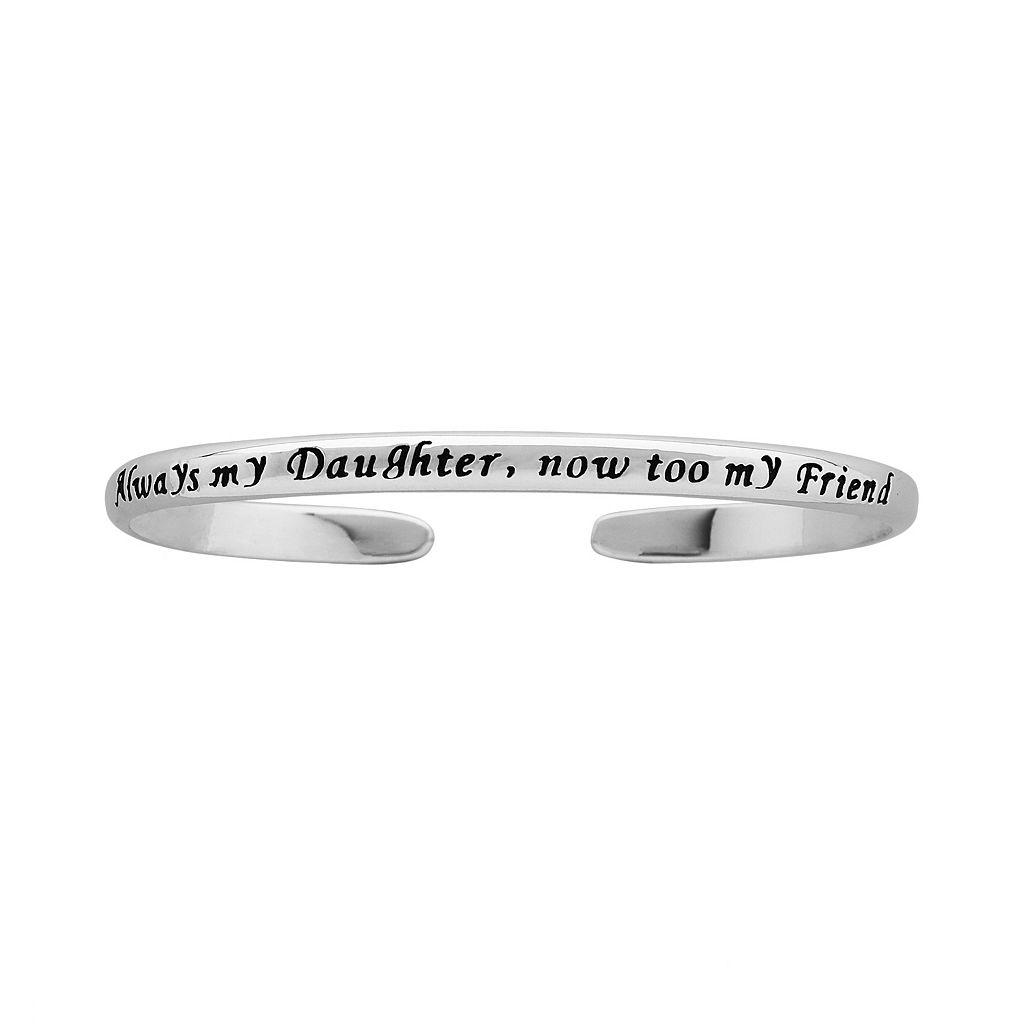 Sterling Silver Daughter Cuff Bracelet