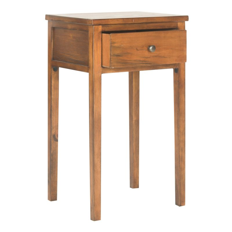 Safavieh Abel Pine End Table, Brown