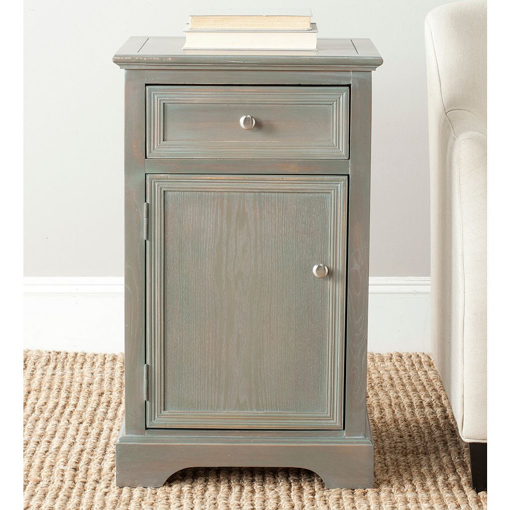 Safavieh Jarome Gray Cabinet End Table