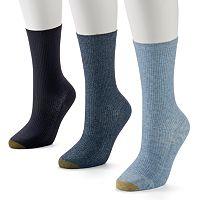 GOLDTOE 3-pk. Non-Binding Crew Socks