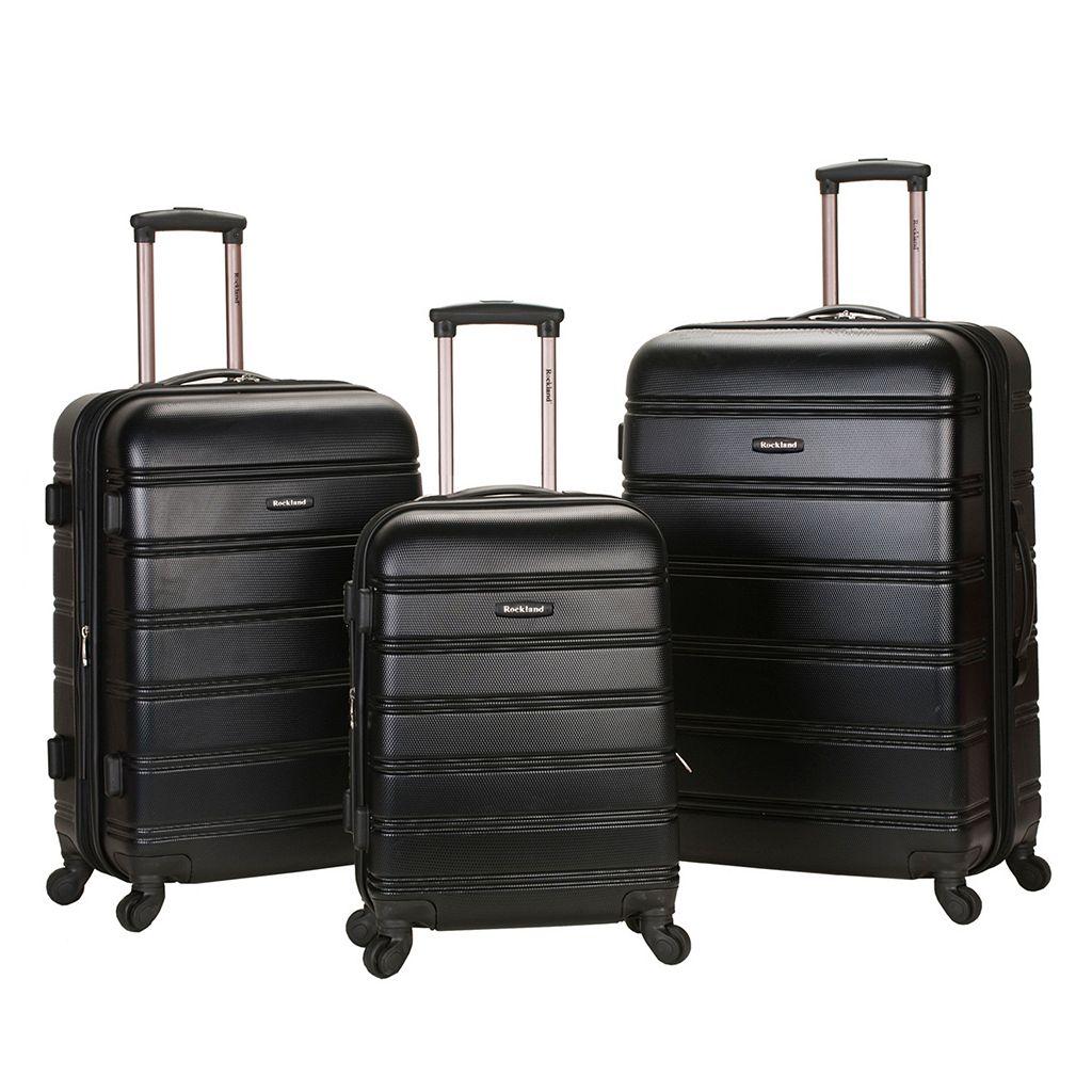 Rockland Melbourne 3-Piece Hardside Spinner Luggage Set