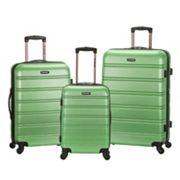 Rockland Melbourne 3 pc Hardside Spinner Luggage Set