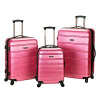 Rockland Melbourne 3 pc Hardside Spinner Luggage Set