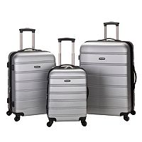 Rockland Melbourne 3-Piece Hardside Spinner Luggage Set