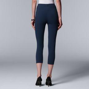 Simply Vera Vera Wang Low-Rise Cotton Capri Leggings