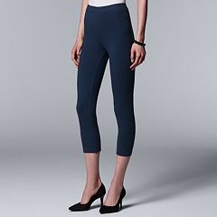 Simply Vera Vera Wang Low-Rise Cotton Capri Leggings