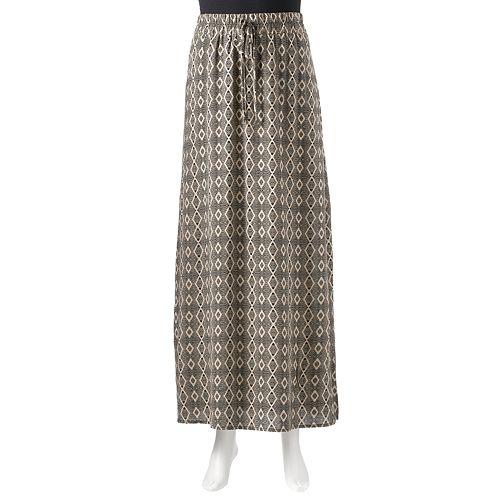 AB Studio Geometric Challis Maxi Skirt - Women's