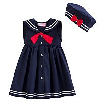 Sophie Rose Sailor Dress & Hat Set - Toddler