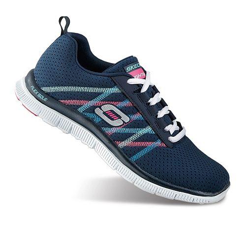 Skechers Flex Appeal Something Fun, Damen Sneakers, Blau