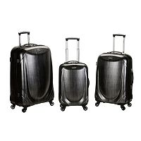 Rockland 3 pc Hardside Spinner Shiny Luggage Set