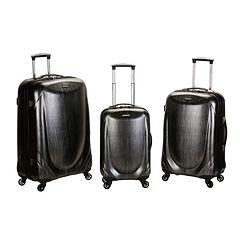 Rockland 3 pc Hardside Spinner Shiny Luggage Set