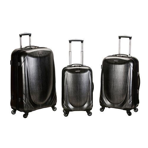 Rockland 3-Piece Hardside Spinner Shiny Luggage Set