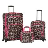 Rockland 3 pc Spinner Expandable Luggage Set