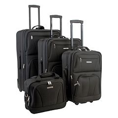 Rockland 4 pc Wheeled Luggage Set
