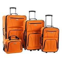 Rockland 4-Piece Wheeled Luggage Set
