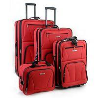 Rockland 4 pc Wheeled Luggage Set