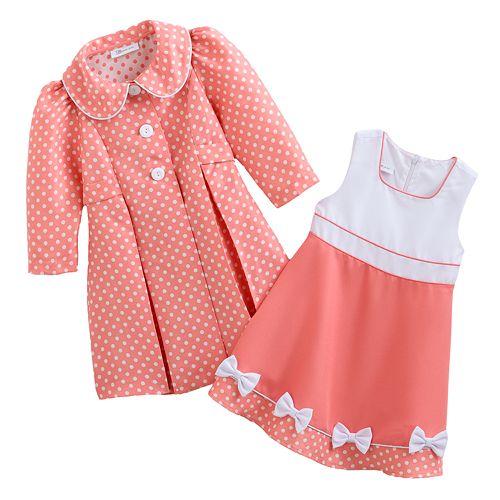 d239567c4 Bonnie Jean Coat & Dress Set - Toddler