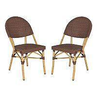 Safavieh 2 pc Barrow Stackable Chair Set - Indoor & Outdoor