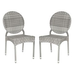 Safavieh 2-pc. Valdez Stackable Chair Set - Indoor and Outdoor