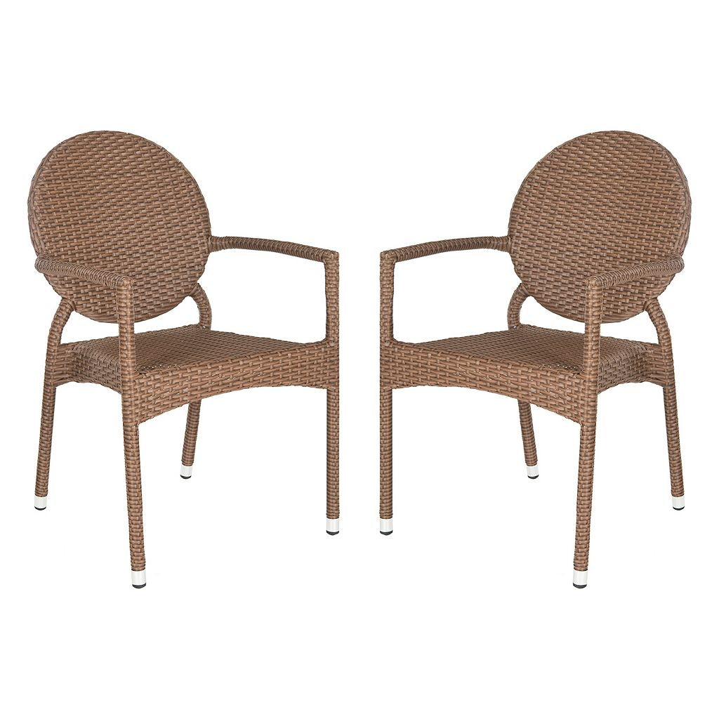 Safavieh 2-pc. Valdez Stackable Arm Chair Set - Indoor and Outdoor