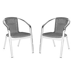 Safavieh 2-pc. Wrangell Stackable Chair Set - Indoor & Outdoor