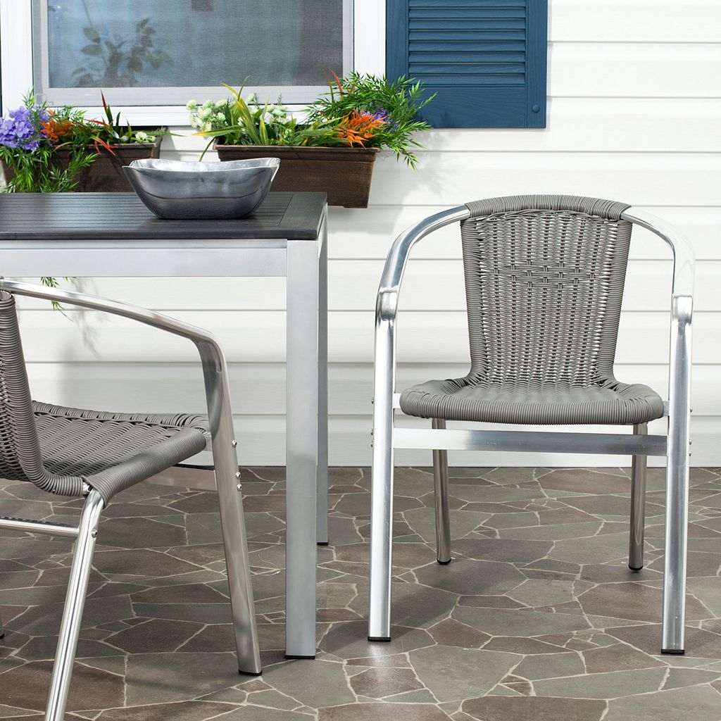 Safavieh 2-pc. Wrangell Stackable Chair Set - Indoor and Outdoor