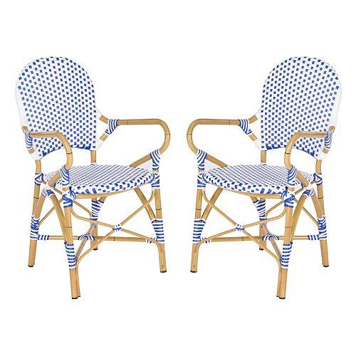 Safavieh 2 Pc Hooper Stackable Chair Set Indoor Amp Outdoor