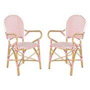 Safavieh 2 pc Hooper Stackable Chair Set - Indoor & Outdoor