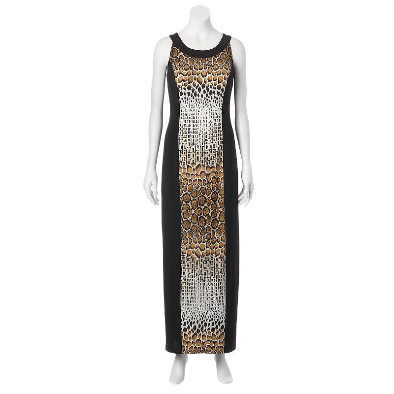 AB Studio Colorblock Maxi Dress - Women's