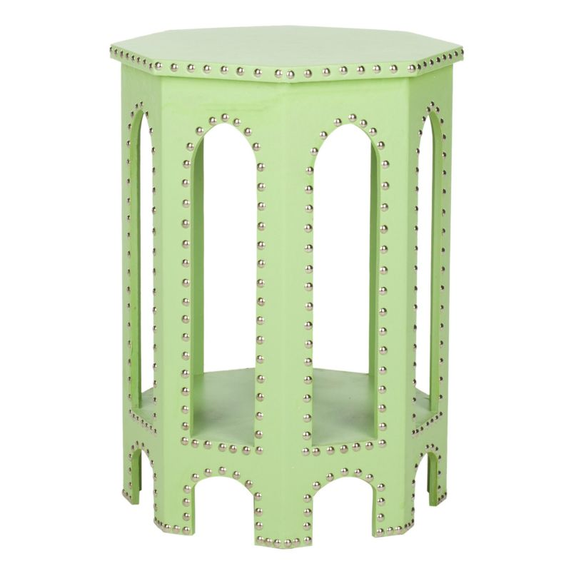 Safavieh Nara End Table, Lt Green