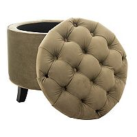 Safavieh Amelia Tufted Cotton Storage Ottoman