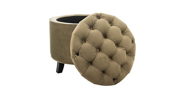 - Safavieh Amelia Tufted Cotton Storage Ottoman