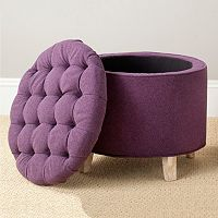 Safavieh Amelia Tufted Wool Blend Storage Ottoman