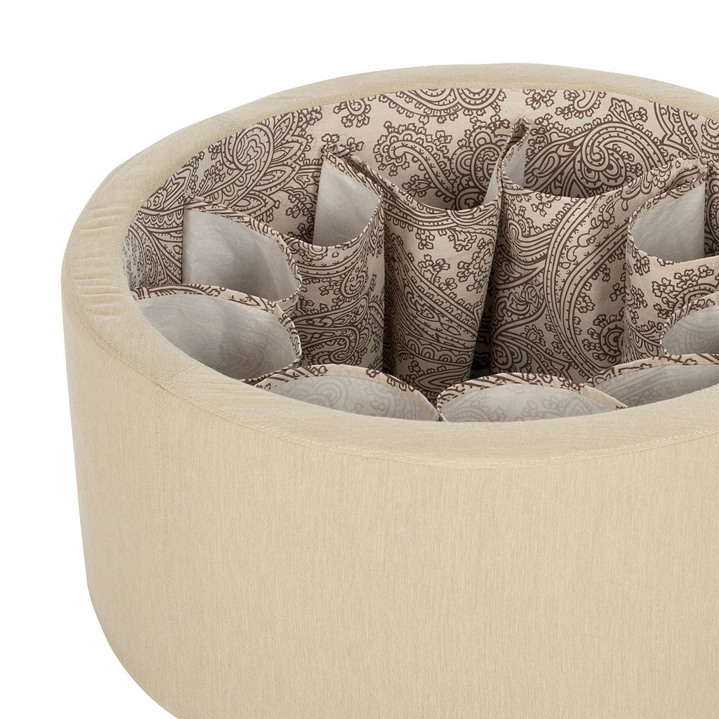 Safavieh Tanisha Shoe Storage Off White Ottoman
