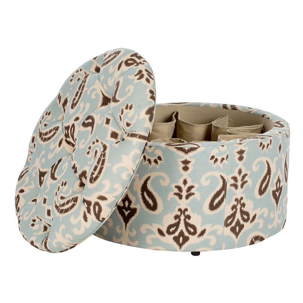 Safavieh Tanisha Shoe Storage Paisley Ottoman