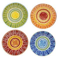 Certified International Tapas by Joyce Shelton Studios 4 pc Dinner Plate Set