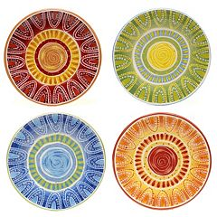 Certified International Tapas by Joyce Shelton Studios 4 pc Dessert Plate Set