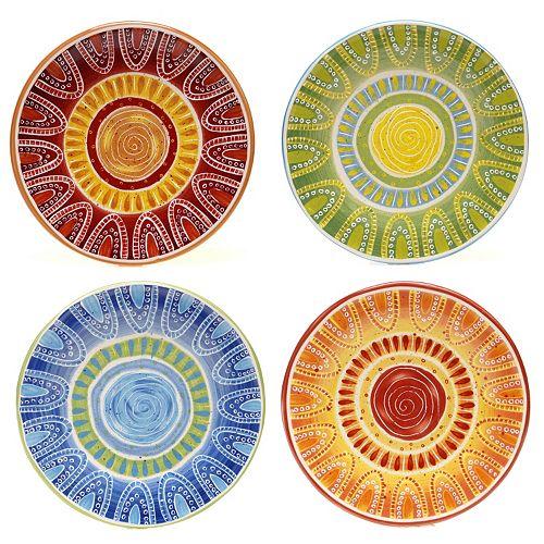 Certified International Tapas by Joyce Shelton Studios 4-pc. Dessert Plate Set