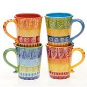 Certified International Tapas by Joyce Shelton Studios 4 pc Mug Set