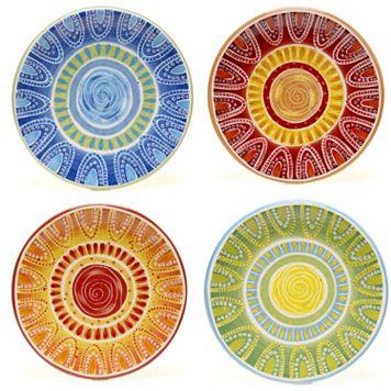Certified International Tapas by Joyce Shelton Studios 4-pc. Canape Plate Set