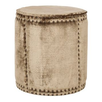 Safavieh Paula Rustic Drum Ottoman