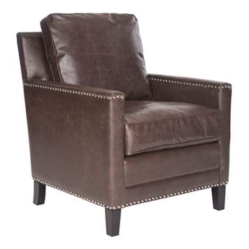 Safavieh Buckler Faux-Leather Club Chair