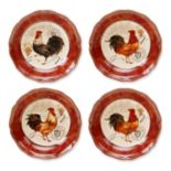 Certified International Tuscan Rooster by Pamela Gladding 4-pc. Pasta Bowl Set