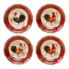 Certified International Tuscan Rooster by Pamela Gladding 4 pc Pasta Bowl Set